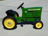 John Deere 5020 Diesel pedal tractor. Aluminum cast,