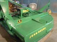 For sale is a John Deere 509 mower. It is in very good