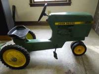 John Deere Model 520Pedal Tractor & Wagon 275.00. Great