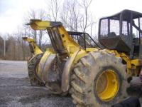 1988 JD 540D log skidder with whale tail, fender