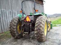 A year 2000 John Deere 5510 with 89 horse power ..
