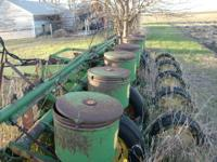 six row 30 inch planter and cultivator, John Deere,
