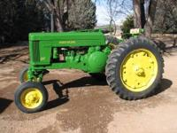 1953 John Deere 60 with factory wide front, 3 point