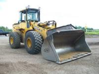 644H John Deere wheel loader. Has Quick Attatch and 3rd