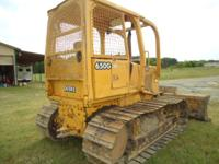1996 John Deere 650G LGP bulldozer with 6 way blade,