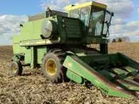 FOR SALE - JOHN DEERE 6600 COMBINE WITH A JOHN DEERE