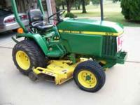 "FOR SALE: John deere 670 tractor w/60"" deck, 624 hrs,"