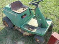 This is a mower that was being used last year untill