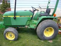 John Deere 770 2wd with approx. 1200hrs on the machine.