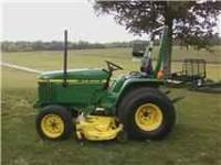 1995 John Deere 770 Compact Tractor. 60 Inch Deck 1181