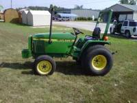 John Deere 770 tractor, excellent condition, with 644