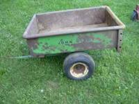 John Deere 80 cart tailgate has some rust holes in it