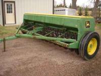 John Deere 8300 Drill, 13 foot, 6 1/2 inch spacing.