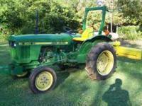 850 John Deere Tractor, Diesel, 1,324 hours, Hi-Lo