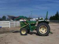JOHN DEERE 850 DEISEL, W/LOADER ASKING 11,500.00 This