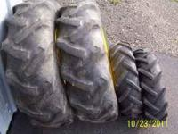 a used set of ag tread tires for a john deere 855-755
