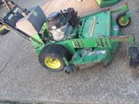 I have a John deere hd 45 with a 14 hp kawa. motor with