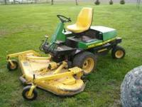 932 John Deere 72 in.front mount mower 3 cylinder