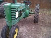 John Deere B Runs- Tires Fair Call Jon for more
