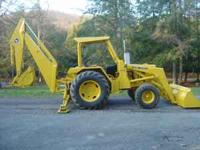 John Deere 500C backhoe loader. 1973 or 1974. Good