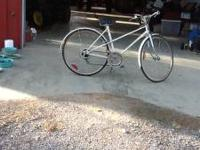 John Deere white bicycle. Good condition. Call  or .