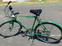 "Rare John Deere Bicycle; 26"" tires, 21"" frame. Stored"