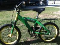 16in John Deere bike. Heavy duty for little kids.