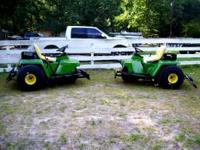 John Deere 1200A Ball Field Rakes Completely