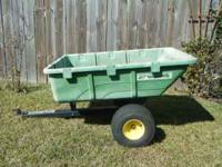 John Deere Lawn and Garden Dump Cart. Works Great, Good