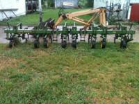 john deere four row wide cultivater nice shape just