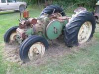 1948 John Deere D parts tractor, good rims, engine is