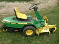 John Deere F 525 front mower with hydrostatic drive