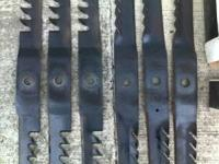 Have two sets of gator blades 18and 1/2 long center