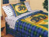 John Deere Full Size Reversible Comforter Set (with bed