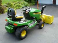 John Deere Select Series X300 Tractor with Hydrostatic