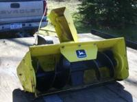 FOR SALE: JOHN DEERE SNOW BLOWER ATTACHMENT THAT CAME