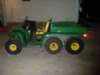 2000 JOHN DEERE GATOR 6X4 DIESEL, NEWER BOX, BED LINER