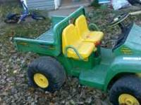 Kids battery operated gator. Was used a lot, needs new
