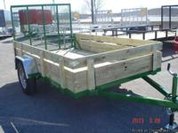 New 2013 Integrity 6x10 Utility Trailer with Gate.