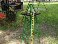 This oil derrick is homemade with solid steel and