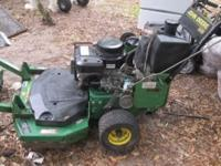 "John Deere Walk Behind Mower with 36"" cutting deck in"