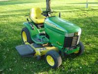 I have a 2000 john deere gt235 garden tractor for