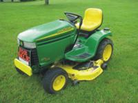 This John Deere GT235 lawn tractor is in excellent