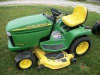 john deere gt235 with 48' deck and john deere snow