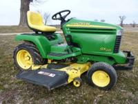 Gx 345 Lawn Mower 843 hours ,power steering , 54 in