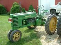 1939 john deere H looks good runs good needs rear tires