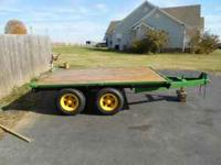 I have a john deere trailer for sale with brand new 14