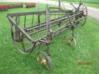 John Deere Hay Rake Antique implement for yard art or