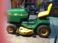 14 HP Kaw. engine, 38 inch mower deck, new battery,