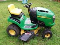- $1100 (49053) John Deere L-110 Lawn Tractor Mower